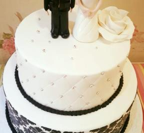 Standing Groom and Bride Black Theme