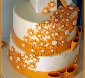 Engagement Cake Orange Theme