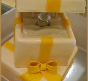 Engagment Ring Cake