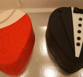 Elegant Couple Twin Cake