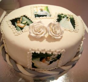 Sweet Wedding Memories Cake