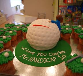 Golf Cake and Cupcakes Package