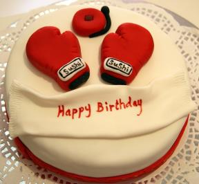 Boxing Gloves Cake