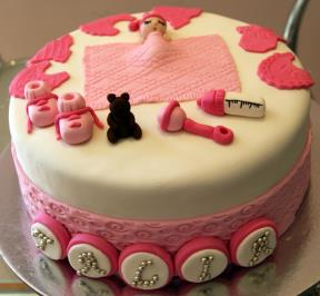 Girliesh 1st Birthday Cake