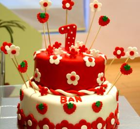 First Birthday Strawberry Cake