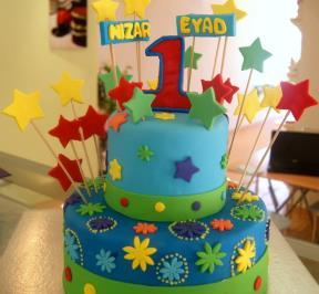First Birthday Stars Cake