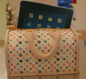 ipad in LV bag cake