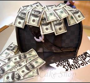 Bag of Money Cake