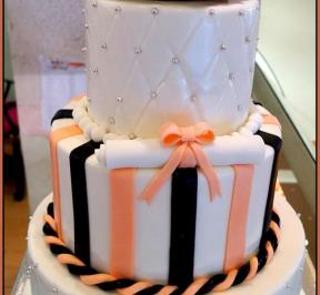 Graduation Cake Orange Theme