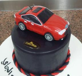 Ford Red Car Cake
