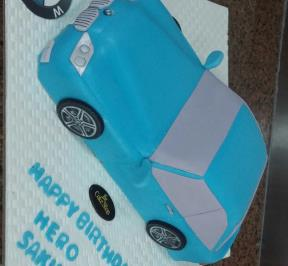 BMW Blue Car Cake