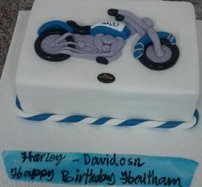 Blue Motorcycle Cake