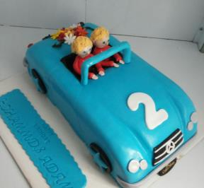 Open Mercedes Car Cake