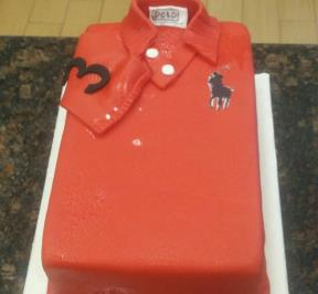 Red Polo Shirt Cake