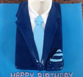Dark Blue Suits Cake