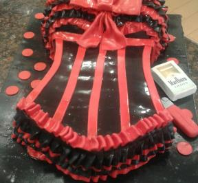 Black & Red Dress Cake