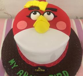 Angry Birds Face Cake