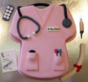 Doctor uniform Cake (pink theme)