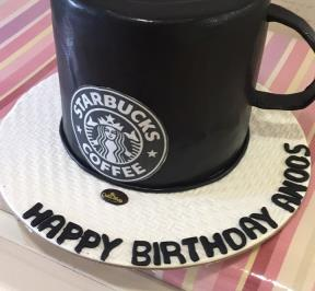 Starbucks Black Cup Cake