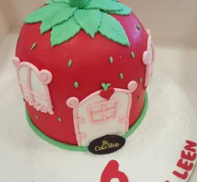 One Big Strawberry Cake