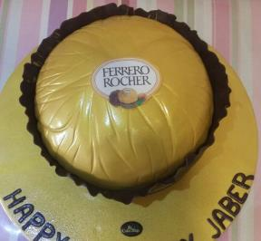 Ferrero Rocher Shaped Cake