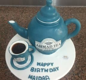 Ahmad Tea Pot Cake