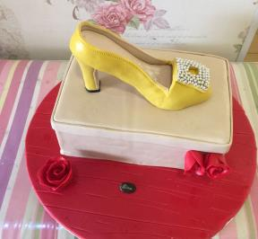 Yellow High Heel Cake