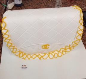 White Chanel Bag Cake