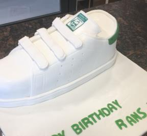 White Adidas Shoes Cake