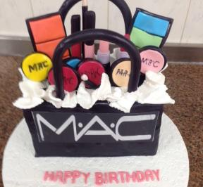 MAC Cosmetics shopping Bag Cake