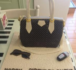 Louis Vuitton Bag Fondant Cake