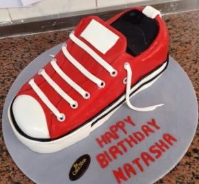 Converse Red Shoes Cake