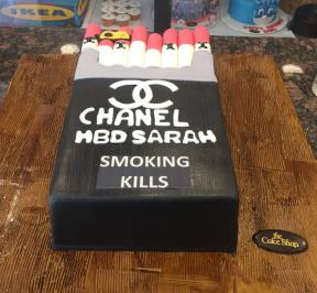 Chanel Cigarette Box Cake