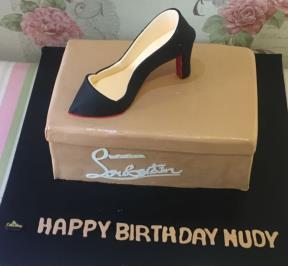 Black High Heel Cake