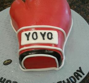 Red Boxing Glove Cake