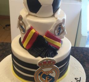 Real Madrid 3 Tier`s Cake