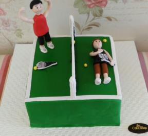 Playing Tennis Cake