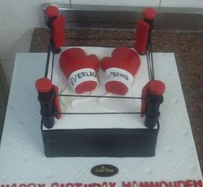 Kickboxing Gloves Cake