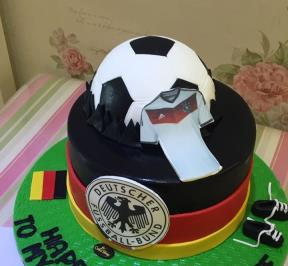 German Football Cake