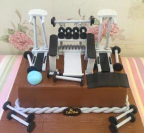 Fitness Equipment Cake