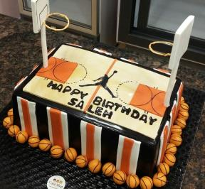 Basketball Pitch Cake