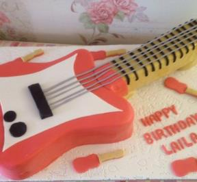 Red Electric Guitar Cake