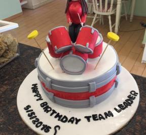 Red Drums Cake