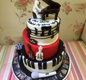 Musical Instruments 3 tier`s Cake