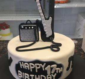Electric Guitar Cake