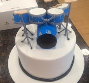 Blue Drums Cake