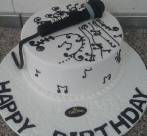 Black Microphone Cake