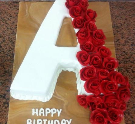 Letter A Cake 4