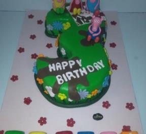 Number (3) Cake 8