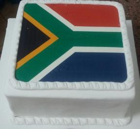 South Africa Flag Cake